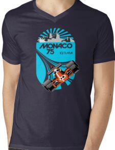 Monaco Grand Prix Poster Mens V-Neck T-Shirt