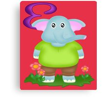 E is for Elephant Canvas Print