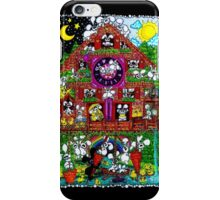plushbunnies cuckoos clock iPhone Case/Skin