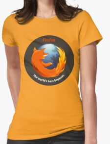 Firefox - The world's best Browser Womens Fitted T-Shirt