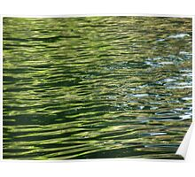 Abstract water - Emerald  Poster