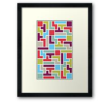 Tetris with pop colors Framed Print