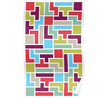 Tetris with pop colors Poster