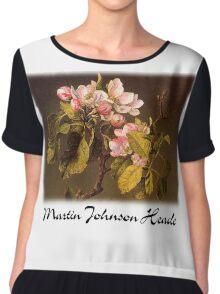 Martin Johnson Heade - Apple Blossoms Chiffon Top