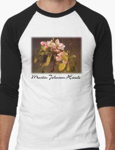 Martin Johnson Heade - Apple Blossoms Men's Baseball ¾ T-Shirt