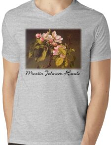 Martin Johnson Heade - Apple Blossoms Mens V-Neck T-Shirt