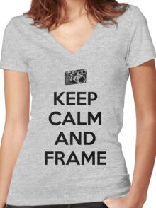Keep calm and frame Women's Fitted V-Neck T-Shirt