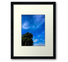 Blue sky Framed Print