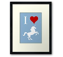 I Love Unicorns Framed Print