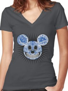 Mickey. Women's Fitted V-Neck T-Shirt