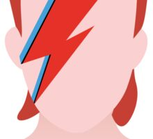 David Bowie Aladdin Sane Minimal Art Cover Sticker