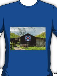 Kentucky Barn Quilt - Carpenters Wheel T-Shirt