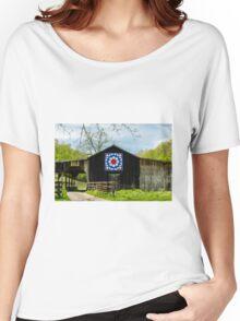 Kentucky Barn Quilt - Carpenters Wheel Women's Relaxed Fit T-Shirt