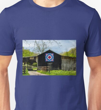 Kentucky Barn Quilt - Carpenters Wheel Unisex T-Shirt