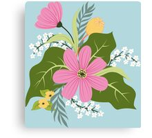 Blooming colorful composition Canvas Print