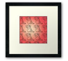 Dygoon Has Fleas (Yes He Does) Framed Print