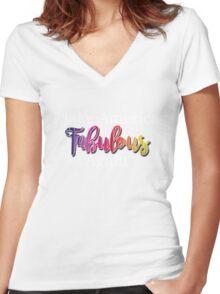 Make America Fabulous Again Women's Fitted V-Neck T-Shirt