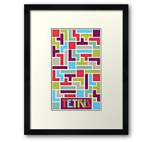 Tetris with pop colors (version with title) Framed Print