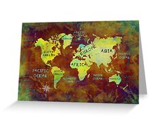 world map text 2032 Greeting Card