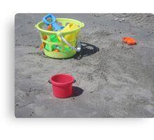 Beach Toys Canvas Print