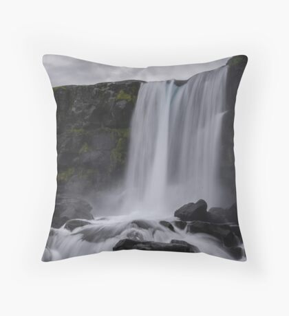 Boring waterfall Throw Pillow