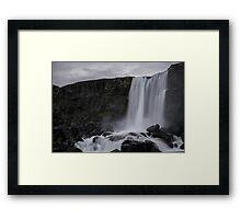 Boring waterfall Framed Print