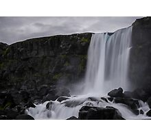 Boring waterfall Photographic Print