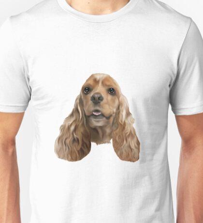 Blonde Cocker Spaniel Dog Portrait Unisex T-Shirt