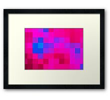 Pinkblue romance Framed Print