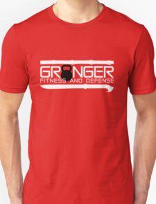 Granger Fitness and Defense White with Black KB Unisex T-Shirt