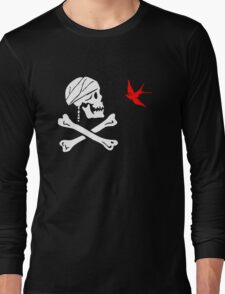 The Flag of Captain Jack Sparrow Long Sleeve T-Shirt