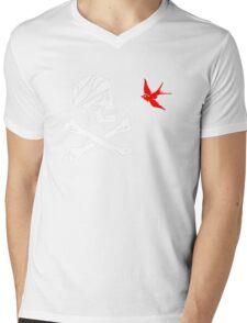 The Flag of Captain Jack Sparrow Mens V-Neck T-Shirt