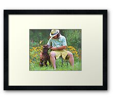 """Buds in the Garden"" Framed Print"