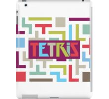 Tetris with pop colors (version with title) iPad Case/Skin