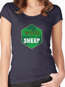 Wood For Sheep Women's Fitted Scoop T-Shirt