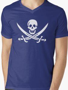 Flag of Calico Jack Rackham Mens V-Neck T-Shirt