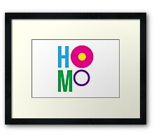 HOMO I Framed Print