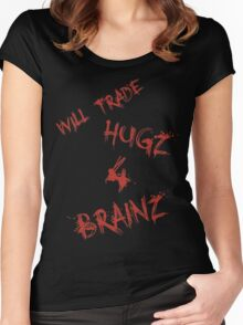 Hugs For Brains Women's Fitted Scoop T-Shirt