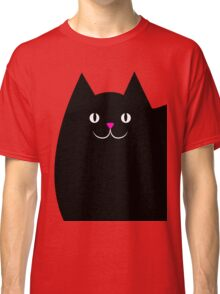 Pink and Black Cat Classic T-Shirt