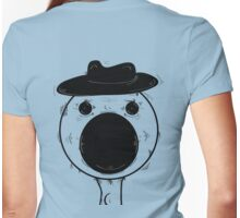 crazy eyes - hat  Womens Fitted T-Shirt