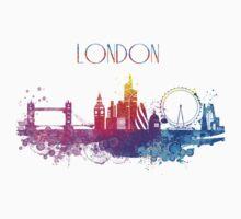 London City Skyline In Watercolor Baby Tee