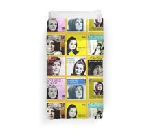 Anni Frid Lyngstad (Frida) from ABBA 45rpm singles massive collage duvet cover Duvet Cover