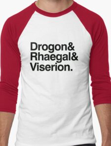 The Dragons Men's Baseball ¾ T-Shirt