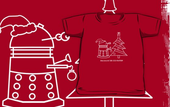 A Very Dalek Christmas - Dark by NevermoreShirts