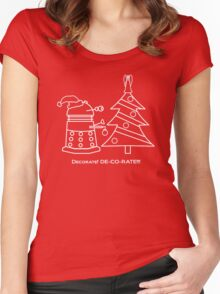 A Very Dalek Christmas - Dark Women's Fitted Scoop T-Shirt