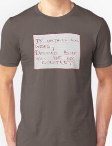 My Constant Will Be Desmond Hume T-Shirt