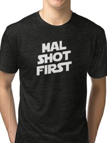 Mal Shot First Tri-blend T-Shirt