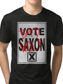 Bad Saxon Poster Tri-blend T-Shirt