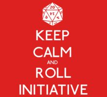 Keep Calm and Roll Initiative Kids Tee