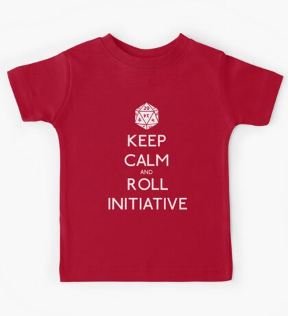 Keep Calm and Roll Initiative Kids Clothes